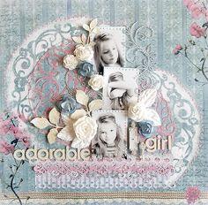{Adorable Girl} * Swirlydoos May Kit* - Scrapbook.com (created by Karola Witczak) Wendy Schultz onto Scrapbook Art.