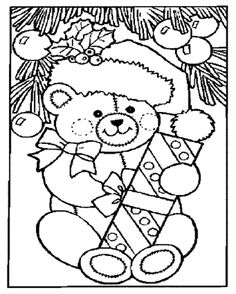 Christmas Shopping Coloring Pages