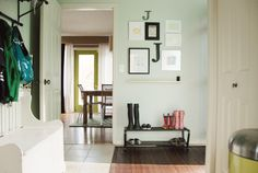 Main Floor: Side Entry / Mudroom. : SF - Jennifer's House Tour : Apartment Therapy  Behr Premium Plus Sliced Cucumber