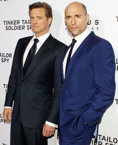 Colin Firth and Mark Strong attend the premiere of 'Tinker Tailor Soldier Spy'