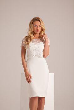 robe de mariée courte en fine dentelle  Collection 2017 de robes de ...