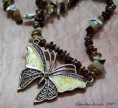 Wings of Sunshine Necklace by TwoBlueRavens on Etsy, $30.00
