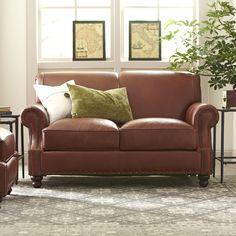 Landry Leather Loveseat #birchlane $1329 sofa $1609