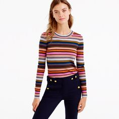 J.Crew+-+Rainbow+stripe+sweater+in+merino+wool