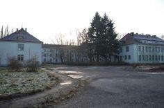 Заброшенный советский военный госпиталь в Легнице .