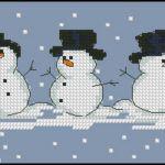 "Free cross-stitch pattern ""Snowmans"""
