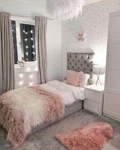 Teen Bedroom Designs, Bedroom Decor For Teen Girls, Room Design Bedroom, Modern Bedroom Design, Small Room Bedroom, Home Decor Bedroom, Master Bedroom, Twin Girl Bedrooms, Bedroom Wall