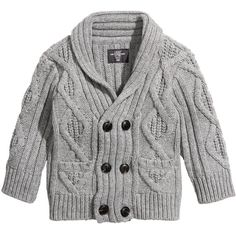 Cable-knit Cardigan - from H&M ($10) ❤ liked on Polyvore featuring baby, baby boy, baby clothes, kids and baby jacket