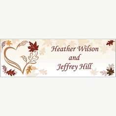Personalized Fall Wedding Banner - Small - OrientalTrading.com