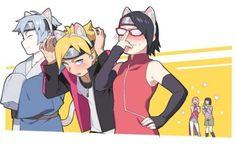 new team 7 Naruto Vs Sasuke, Anime Naruto, Sarada E Boruto, Naruto Fan Art, Naruto Comic, Naruto Cute, Sakura And Sasuke, Naruto Shippuden Anime, Otaku Anime