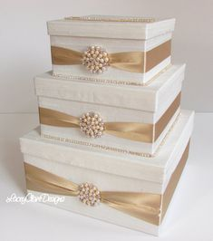 Wedding Card Box, Bling Card Box, Rhinestone Money Holder, Wedding Gift Box - Custom Made