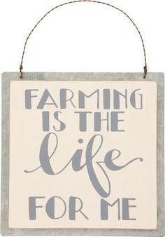 """""""Farming Life"""" Tin Sign - Set Of 2"""