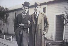 Chaplin with impresario Sol Hurok, c.1922