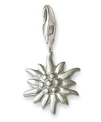 Sterling Silver Edelweiss Flower Charm by Thomas Sabo Charm Club - The Latest Trend