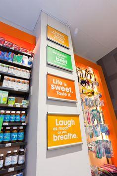 Pharmacy at SPAR by Lavanya Naidoo, via Behance Shop Window Displays, Store Displays, Pharmacy Store, Pharmacy Humor, Drug Store, Store Signage, Store Layout, Retail Merchandising, Retail Store Design