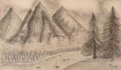 Mountains drawing   Rareș Neagu on Patreon