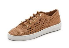 Michael Kors Collection Violet Woven Low Top Sneakers, $350