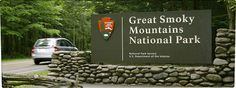 Gatlinburg entrance to the Great Smoley Mountains National Park in Tenn. Comes out in Cherokeee N.C.