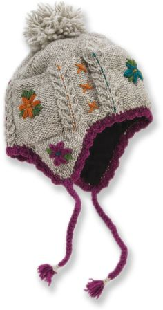 Lost Horizons Kelsey Earflap Hat – Women's - women hats Baby Knitting Patterns, Hand Knitting, Crochet Patterns, Knitting Ideas, Knit Crochet, Crochet Hats, Winter Hats For Women, Cute Hats, Outfits With Hats