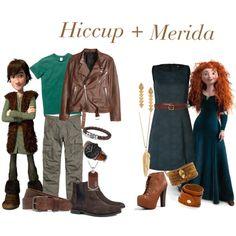 """""""Hiccup and Merida"""" by bassmari on Polyvore"""
