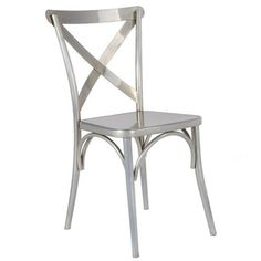 A strikingly modern dining chair, the Jenbo Dining Side Chair has a slightly rounded back created with two curved bars criss-crossed. A solid seat set on 4 legs with elegant arch designs for added beauty. A trendy design for your sitting area. Cross Back Dining Chairs, Metal Dining Chairs, Dining Room Bar, Contemporary Dining Chairs, Kitchen Chairs, Dining Chair Set, Modern Chairs, Contemporary Furniture, Side Chairs