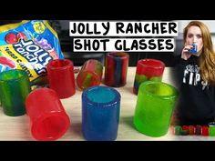 Jolly Rancher Shot Glasses - Tipsy Bartender - YouTube