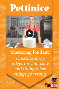 Pettinice - Mastering fondant: Creating sharp edges on your cake and fixing when things go wrong. YOUTUBE video with CC subtitles.