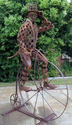 Mulga Bill by jimcross on DeviantArt Welding Art Projects, Metal Art Projects, Metal Yard Art, Scrap Metal Art, Metalarte, Heavy Metal Art, Yard Sculptures, Spoon Art, Horseshoe Art