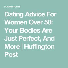 dating tips for over 50s
