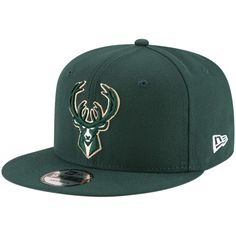 online store 32102 67152 Men s Milwaukee Bucks New Era Hunter Green Official Team Color 9FIFTY  Adjustable Snapback Hat, Your Price   27.99