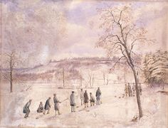 Curling in High Park. An 1836 watercolour by John George Howard, the original owner of High Park in Toronto, Ontario, Canada