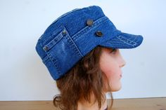 hat patterns using old jeans - Google Search