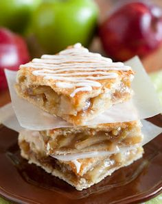 "Apple Pie Bars (Cooking Classy). ""Everything you get in an apple pie but in perfect, hand hold-able, individual bars."""