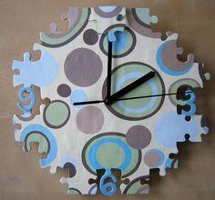 Karlsson 32 Inch Diy Puzzle Multi Color Wall Clock This