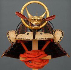 Chochin kabuto (collapsible helmet).