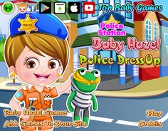 A trendy collection of outfits and accessories to give Baby Hazel  a gorgeous police makeover http://www.topbabygames.com/baby-hazel-police-dressup.html