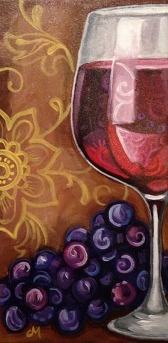 You Can Easily Make Your Own With A Canvas A Paint Brush 1 2 Masking Tape And Three Colors White Acrylic Paint Desc Wine Painting Wine Art Paint And Sip
