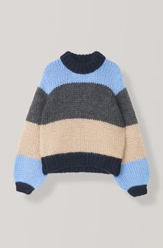The Julliard Mohair Striped Pullover, Block Colour Cute Sweaters, Sweaters For Women, Vintage Pants, Mode Inspiration, Sweater Weather, Fashion Outfits, Womens Fashion, Passion For Fashion, Retro