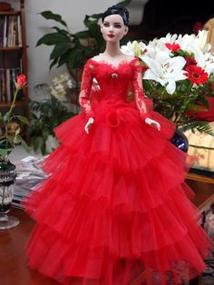 FAshion doll in Lovely dress.