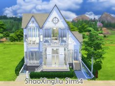 White Dream house by jeisse197 at TSR via Sims 4 Updates