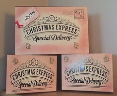 Christmas Express, Christmas Fun, Xmas Eve Boxes, Personalised Christmas Eve Box, Christmas Traditions, How To Make, Woodworking, Ship, Gift Ideas