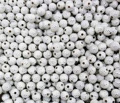 Perles acrylique blanches - perles strass - Bijoux
