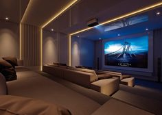 Lite Gold Home Theater Top Home Theater Designs Home Theatre Design Ideas - Lifestyle & Interior Design Trends Home Theater Room Design, Movie Theater Rooms, Home Cinema Room, Best Home Theater, Home Theater Setup, Home Theater Seating, Theatre Design, Home Theatre, Dream Home Design