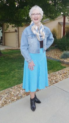 Wearing the skirt of a matching set. #styleover50