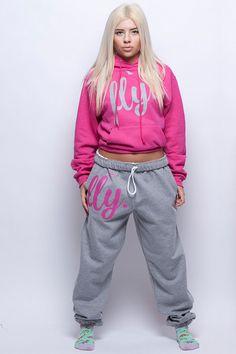 FLY. Pink Hoodie/Grey Pants Sweatsuit (UNISEX FIT)