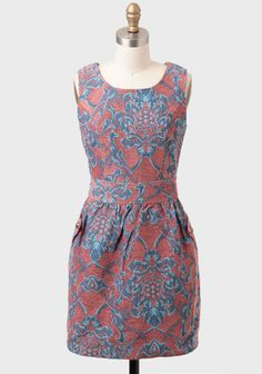 Fare Thee Well Brocade Dress By Tulle