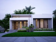 Haus nice 15 Simple Minimalist House Design Trends 2019 How to build a water pond ! Build Dream Home, Build Your House, Modern Exterior, Exterior Design, Small Modern Home, Modern Small House Design, Simple House Design, Bungalow House Design, Modern Bungalow