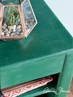 Amsterdam Green voorbeeld gedaan door Annie Sloan