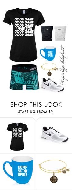 """""""After Volleyball Games..."""" by sparklypinkelephant ❤ liked on Polyvore featuring NIKE"""