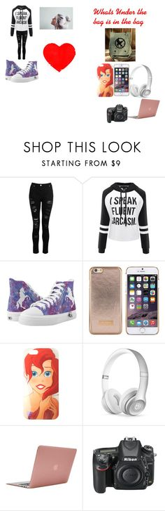 """""""Alexis Ann King"""" by alexisgladiator on Polyvore featuring Dorothy Perkins, Ted Baker, Disney, Beats by Dr. Dre, Incase and Nikon"""